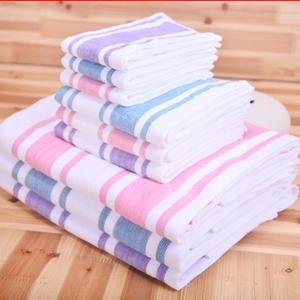 美术条纹纱布毛巾